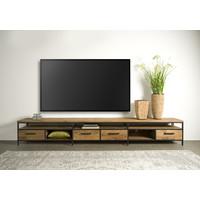 Tv meubel Livorno 300 cm   Gerecycled teak & metaal