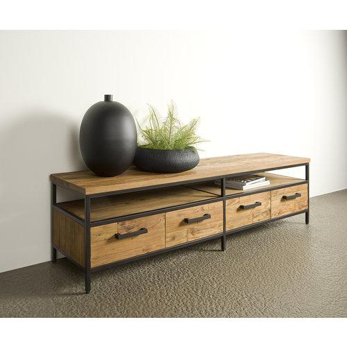 Tv meubel Livorno 180 cm   Gerecycled teak & metaal