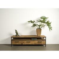 Tv meubel Livorno 160 cm   Gerecycled teak & metaal