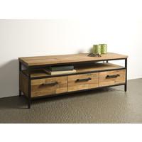 Tv meubel Livorno 130 cm   Gerecycled teak & metaal