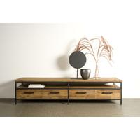 Tv meubel Livorno 200 cm   Gerecycled teak & metaal
