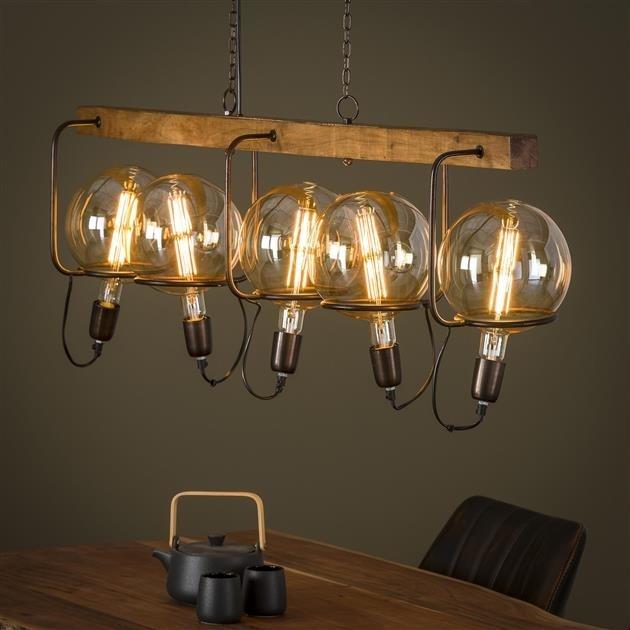 Hanglampen hout