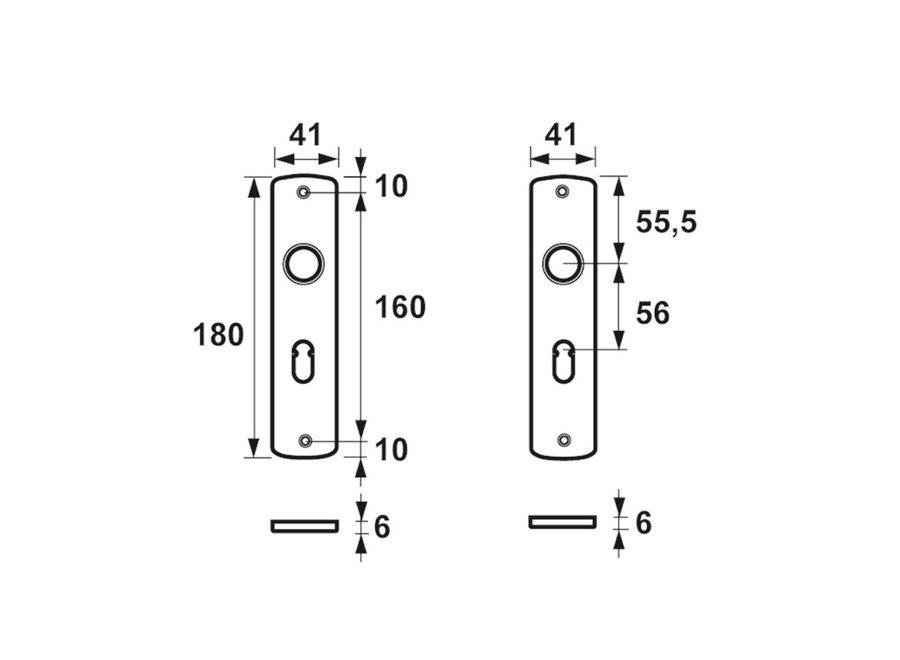 AXA Curve Binnendeurschild Sleutelgat F1