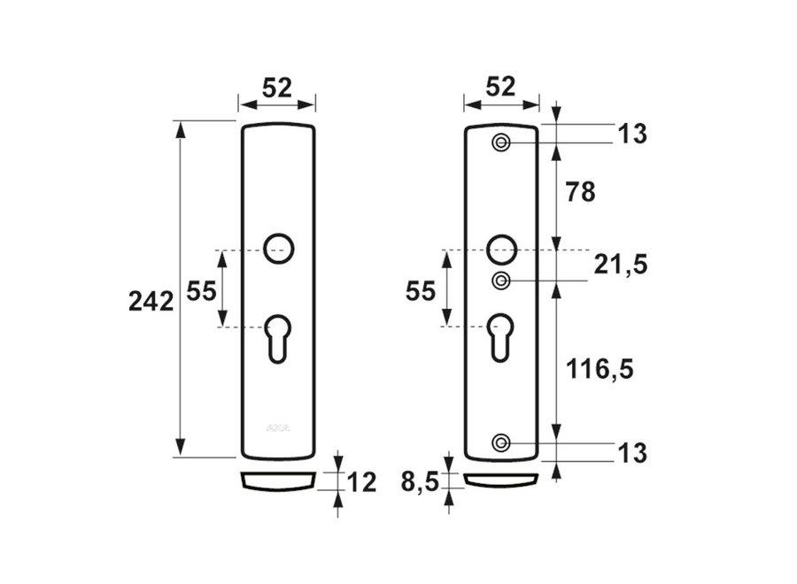 AXA Curve Veiligheidslangschild Kruk/Kruk F1