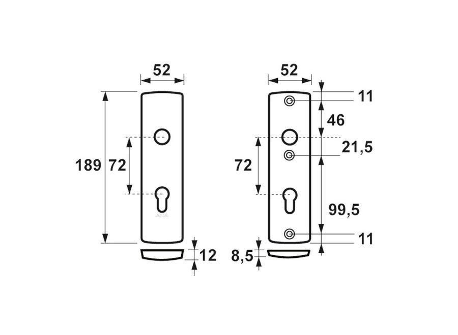 AXA Curve Veiligheidskortschild Kruk/Kruk F1