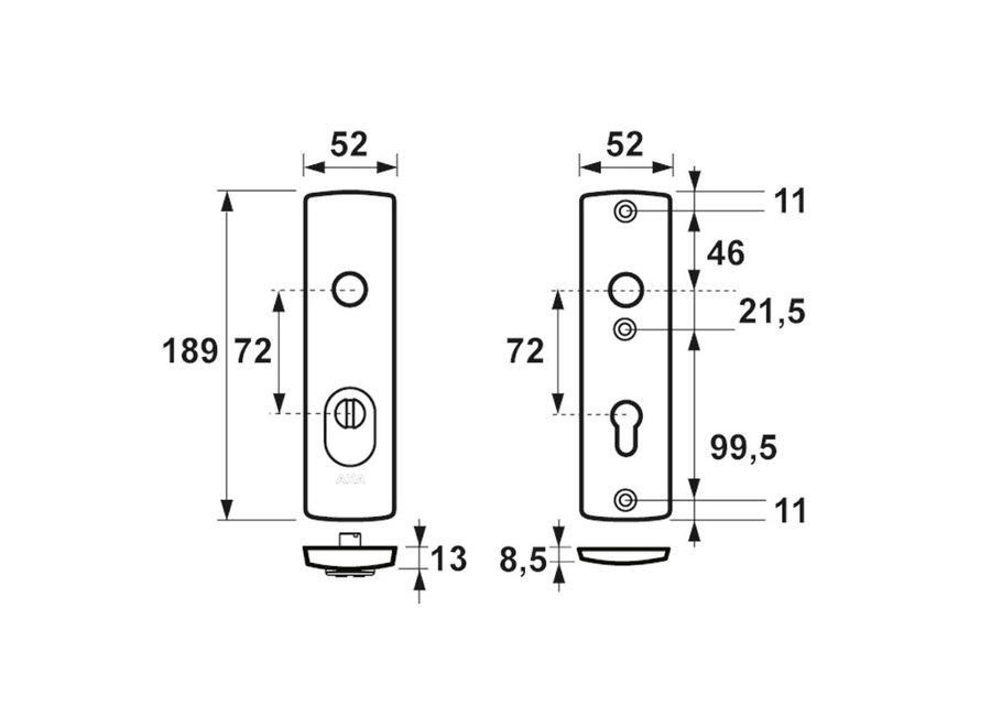 Curve Veiligheidskortschild Kerntrek Kruk/Kruk F1