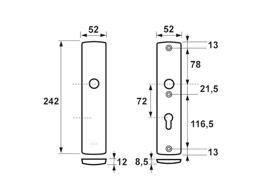 AXA Curve Veiligheidslangschild Kruk/Sleutel F1