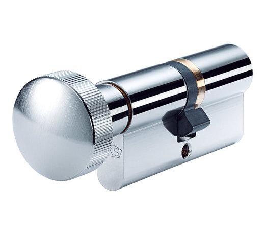 Enkelsluitende Knopcilinders of Cilindersloten met knop