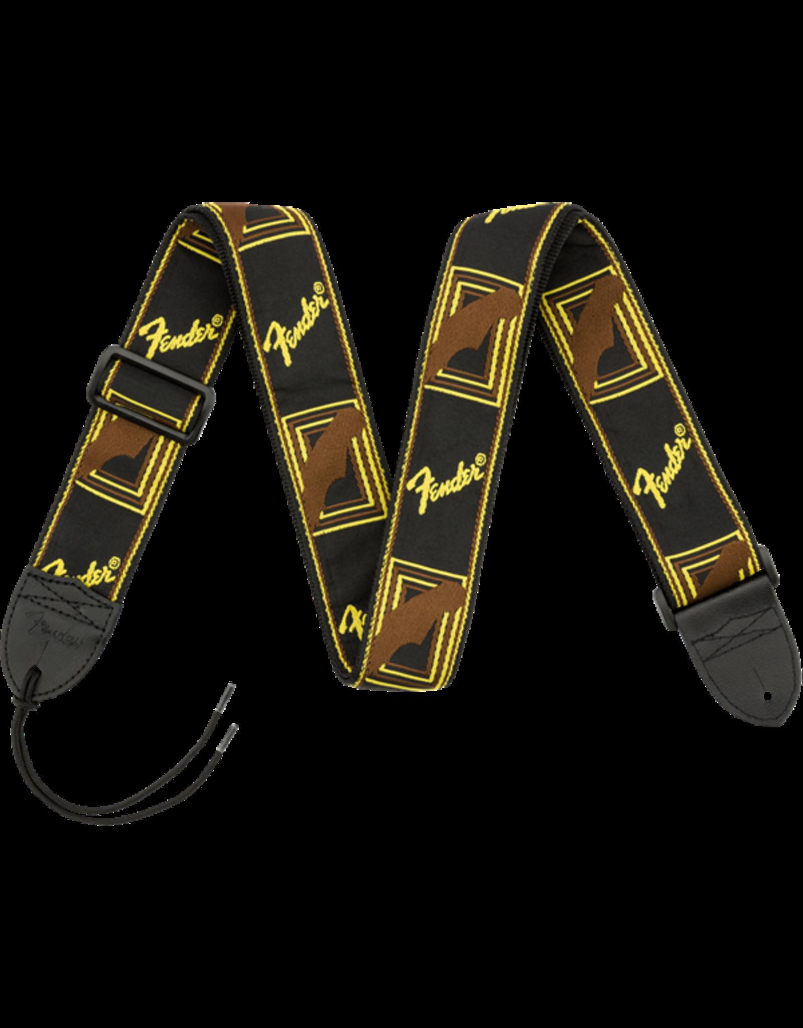 Fender Fender Monogrammed Black/Yellow/Brown strap