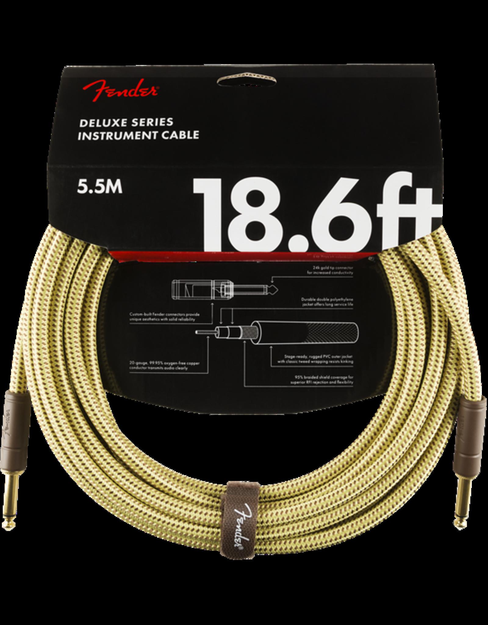 Fender Fender Deluxe 18,6' inst cable tweed