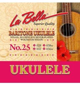 La Bella L-25 La Bella Acoustic Folk string set baritone ukulele, clear nylon, 028-032-038W-036W