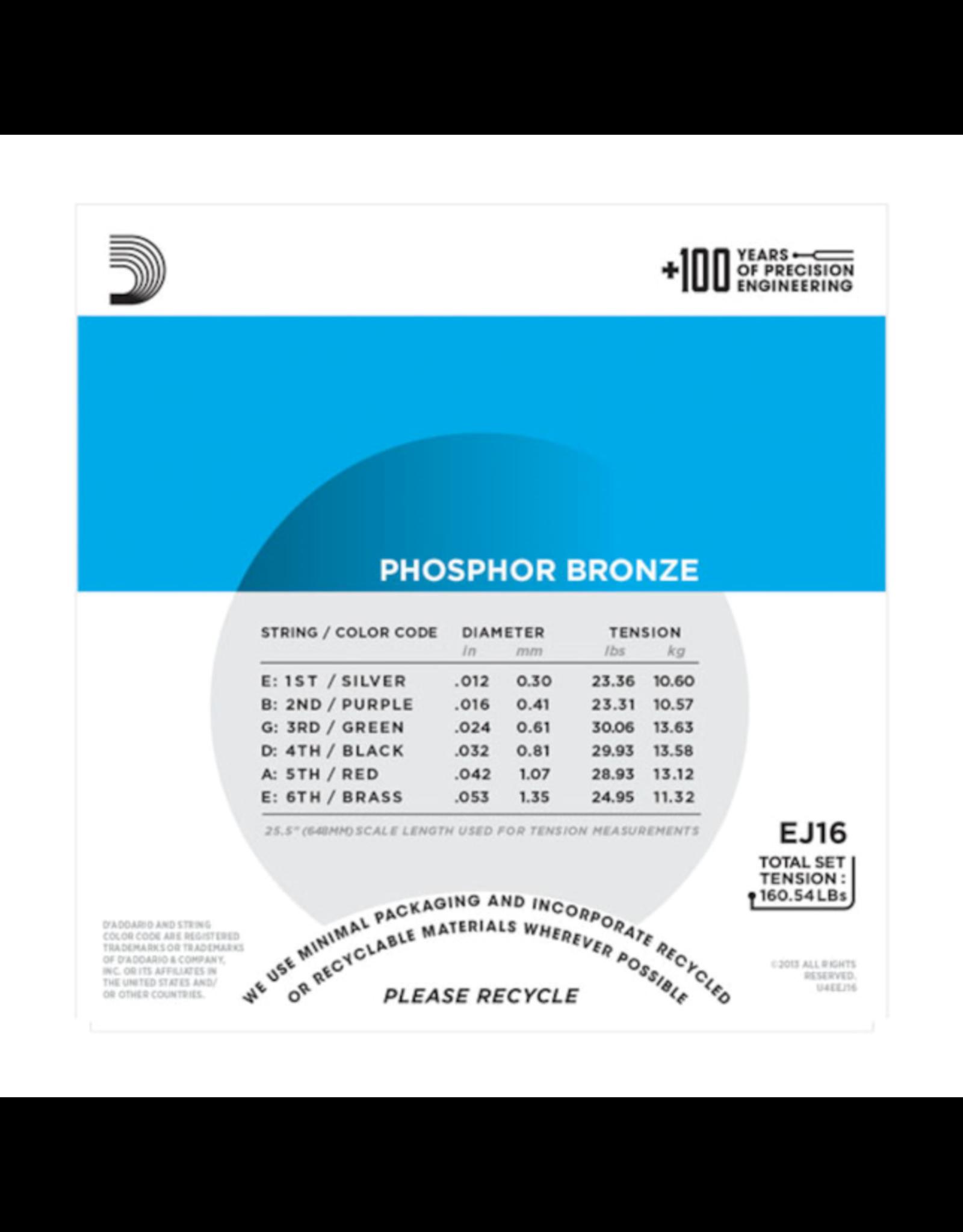 D'Addario D'Addario EJ16 12-53 phosp bronze