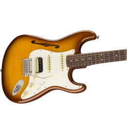 Fender Rarities Stratocaster Thinline HSS, Solid Rosewood Neck, Violin Burst
