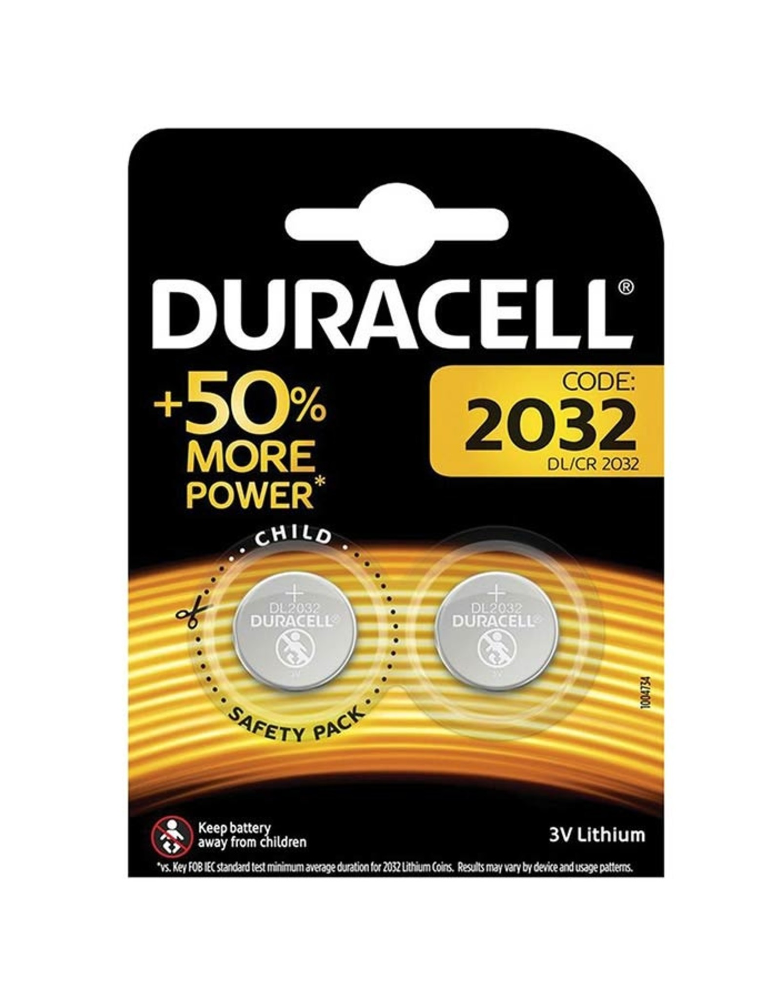 Duracell Duracell battery CR2032, 3v