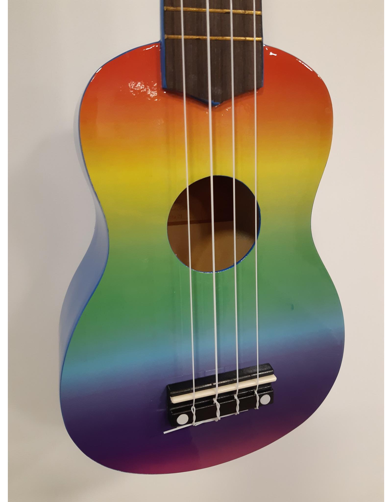 CLX Clx Sopraan Ukulele calista 21 rainbow air