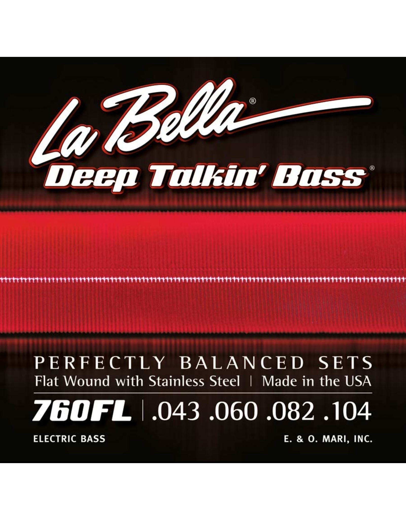 La Bella La Bella L-760FL  Deep Talkin' Flatwound bassnaren