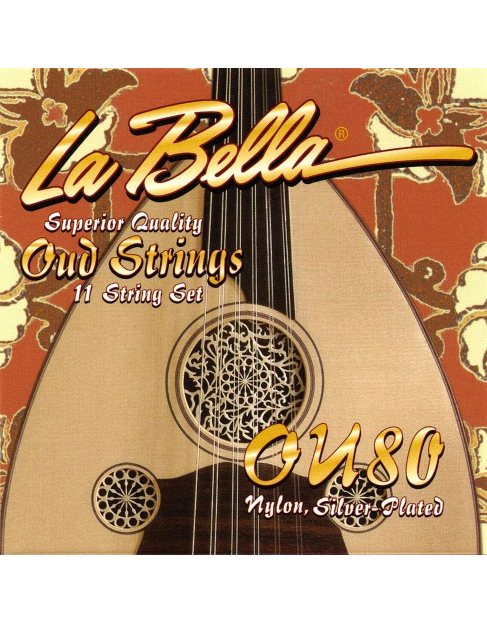 La Bella La Bella L-OU80 set Oud snaren Turkse stemming