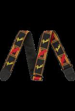 Fender Fender Monogrammed Black/Yellow/Red strap