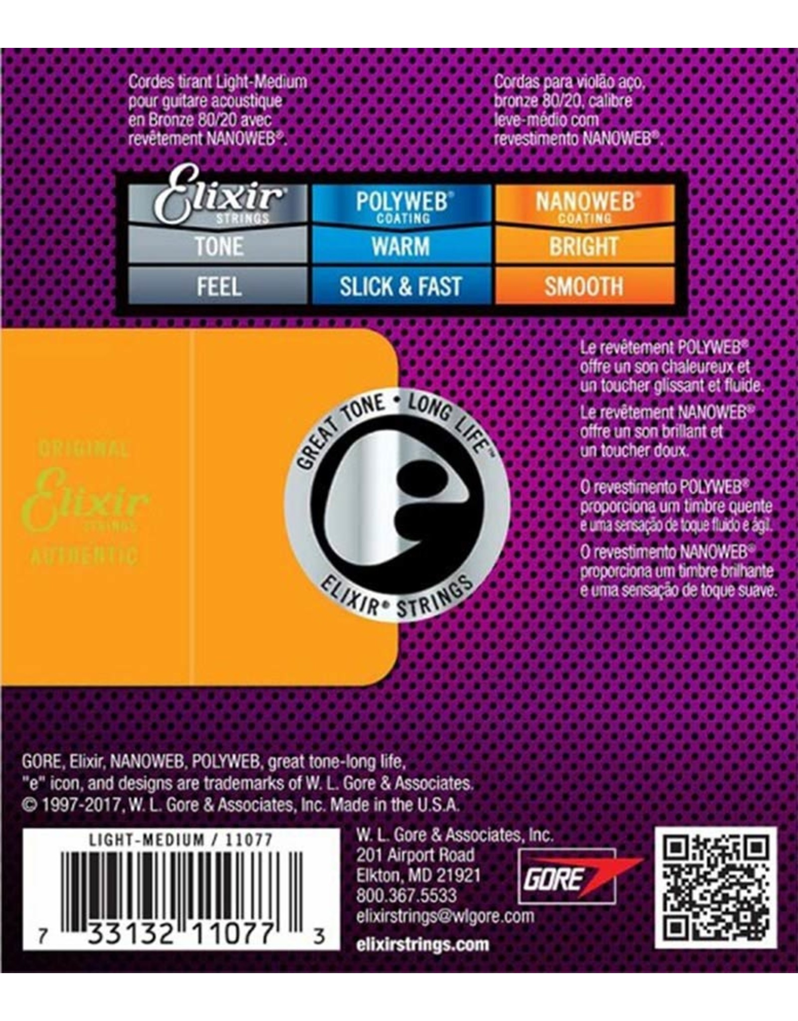 Elixir Elixir 11077 Bronze 12-56 light/medium