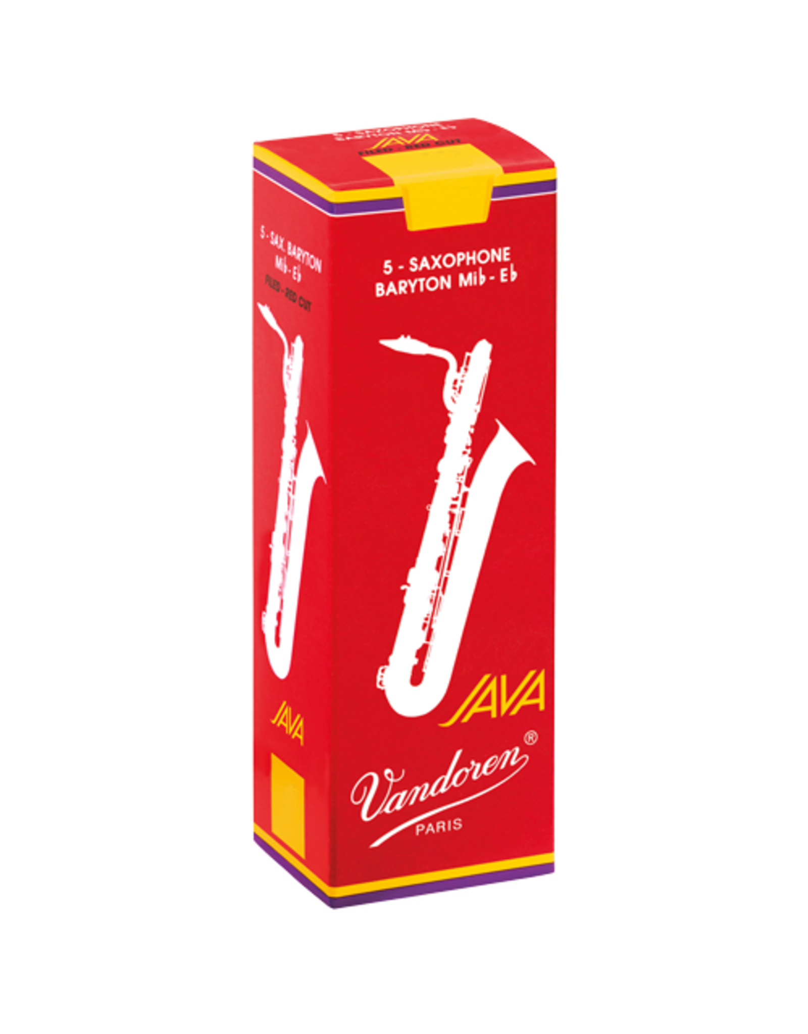 Van Doren Vandoren Java Filed- Red cut Bariton Sax rietjes