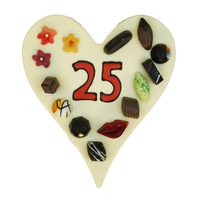 Hart met getal naar keuze - Chocoladehart