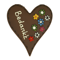 Bedankt - Chocoladehart XL