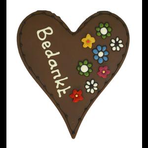 Bonvanie chocolade Bedankt - Chocoladehart