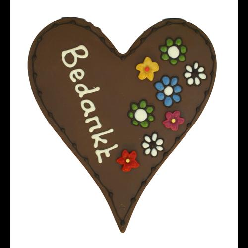 Bonvanie chocolade Bedankt - Chocoladehart XL