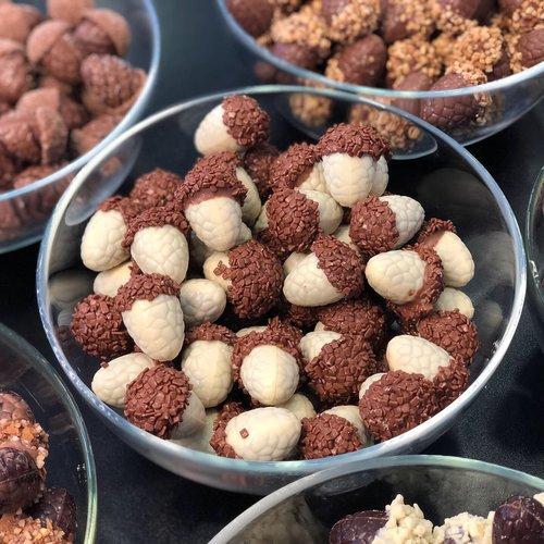 Ophalen in winkel of laten versturen Chocolade eikeltjes