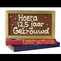 12,5 jaar getrouwd - Chocoladereep met tekst