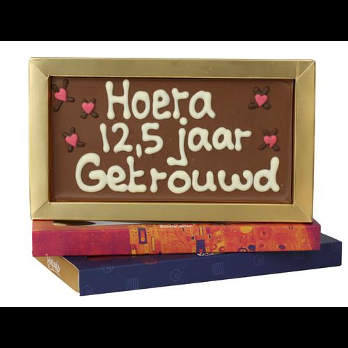 Bonvanie chocolade 12,5 jaar getrouwd - Chocoladereep