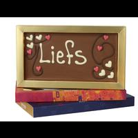 Liefs - Chocoladereep met tekst