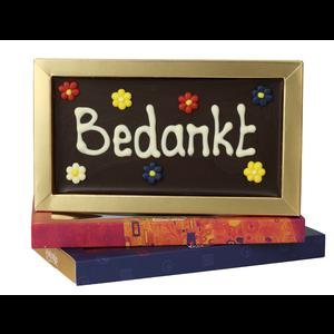 Afhalen bij Bonvanie of laten versturen via PostNL Bedankt - Chocoladereep met tekst