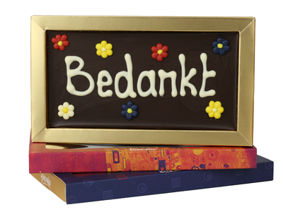 Bonvanie chocolade Bedankt - Chocoladereep met tekst