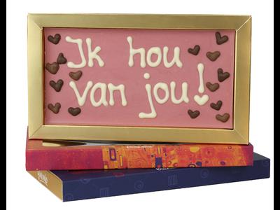 Bonvanie chocolade Ik hou van jou - Chocoladereep met tekst