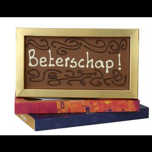Bonvanie chocolade Beterschap - Chocoladereep met tekst