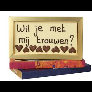 Bonvanie chocolade Wil je met me trouwen? - Chocoladereep met tekst
