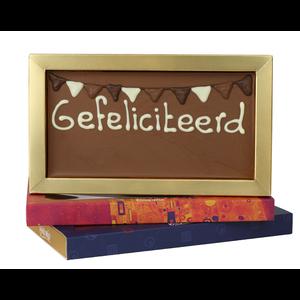 Afhalen bij Bonvanie of laten versturen via PostNL Gefeliciteerd - Chocoladereep met tekst