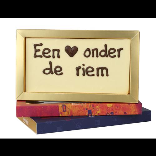 Bonvanie chocolade Hart onder de riem - Chocoladereep met tekst