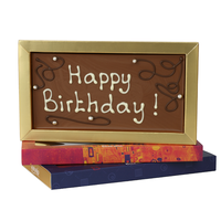 Happy Birthday - Chocoladereep met tekst