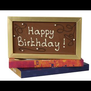 Afhalen bij Bonvanie of laten versturen via PostNL Happy Birthday - Chocoladereep met tekst