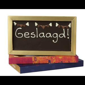 Bonvanie chocolade Geslaagd  - Chocoladereep met tekst