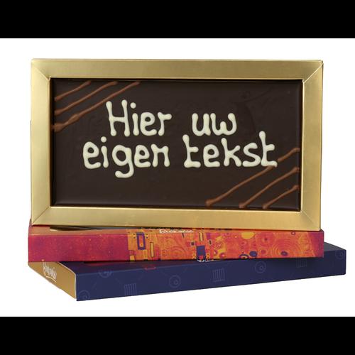 Bezorging door Bonvanie of laten versturen Chocoladereep met eigen tekst