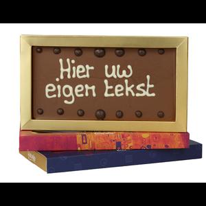 Afhalen bij Bonvanie of laten versturen via PostNL Chocoladereep met eigen tekst