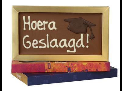 Bonvanie chocolade Hoera geslaagd - Chocoladereep met tekst