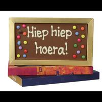 Hiep hiep hoera - Chocoladereep met tekst