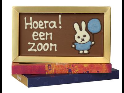 Bonvanie chocolade Een zoon - Chocoladereep met tekst