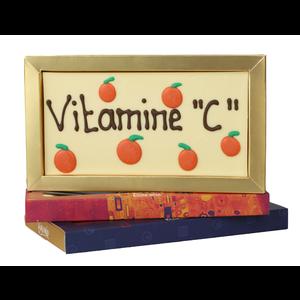 Bonvanie chocolade Vitamine C - Chocoladereep met tekst