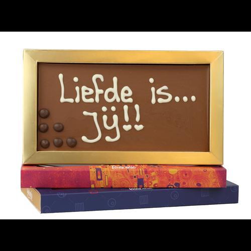 Bonvanie chocolade Liefde is... jij! - Chocoladereep