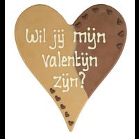 Wil je mijn valentijn zijn? - Chocoladehart